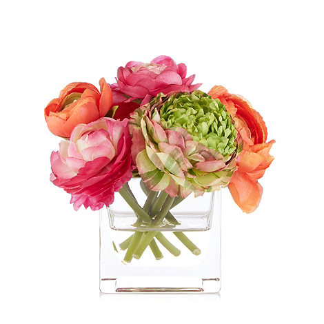 Home Collection - Faux ranunculus flowers in vase