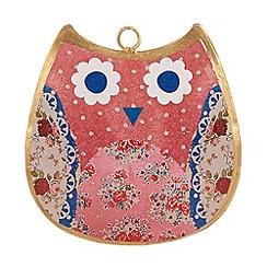 Sass & Belle - Pink floral hanging owl