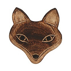 Sass & Belle - Set of six wooden fox coasters