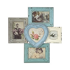 Sass & Belle - Wooden heart multi photo frame