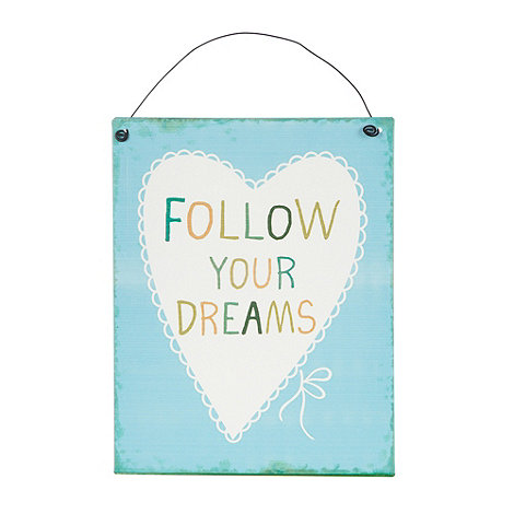 Sass & Belle - Blue +Follow your dreams+ hanging sign