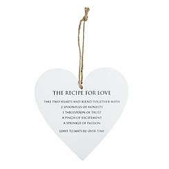 Parlane - Wood 'Recipe for love' sign