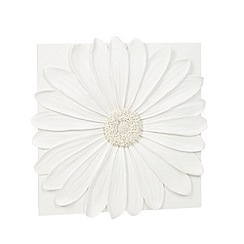 Debenhams - Ivory daisy resin wall art
