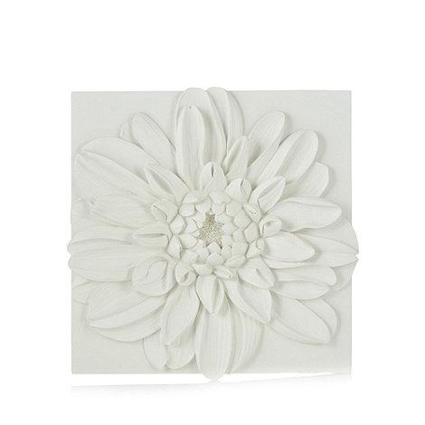 Debenhams ivory chrysanthemum resin wall art debenhams for Resin wall art