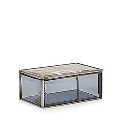 Debenhams - Grey botanical perspex small storage box