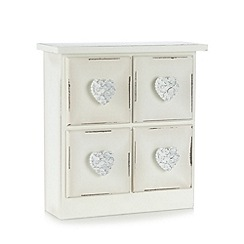 Debenhams - Wooden storage drawers with heart handles