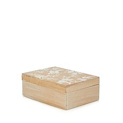 Debenhams - Natural wood mirror storage box