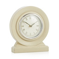 Debenhams - Cream small mantel clock