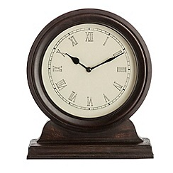 Debenhams - Traditional wooden mantel clock