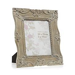 Debenhams - Grey carved 8 x 10 inch photo frame