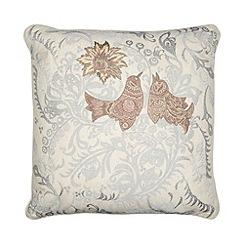 Debenhams - Cream floral bird cushion