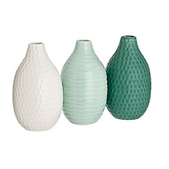 Debenhams - Set of three ceramic vases