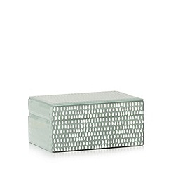 Debenhams - Aqua glass teardrop print storage box