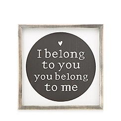 Debenhams - Natural wood 'Belong To You' wall art