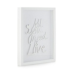 Debenhams - Wooden 'All you need is love' wall art