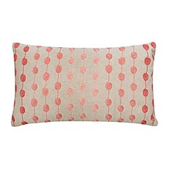 Debenhams - Coral embroidered reels cushion