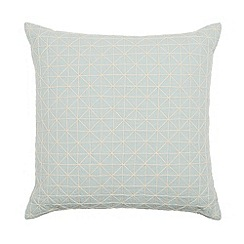 Debenhams - Aqua string triangles cushion
