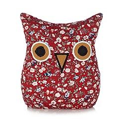 Debenhams - Red floral owl door stop