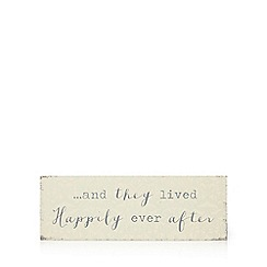 Home Collection - Cream floral print 'And They Lived Happily Ever After' wall art