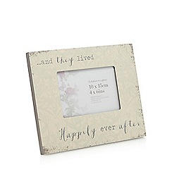 Debenhams - Cream 'Happily Ever After' 4 x 6 inch photo frame
