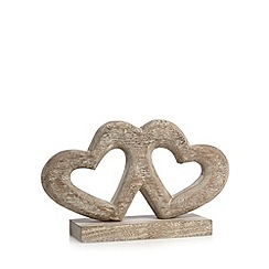 Debenhams - Wooden hearts ornament