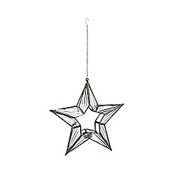 Debenhams - Metal star hanging tea light holder