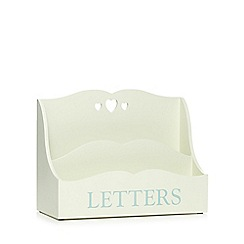 Debenhams - Cream letters box