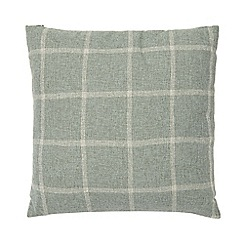 Home Collection - Green checked cushion