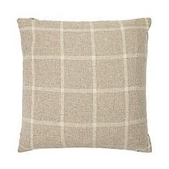 Home Collection - Natural checked cushion