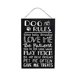 Parlane - Black dog rules sign