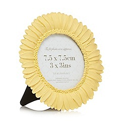 Debenhams - Light yellow sunflower photo frame