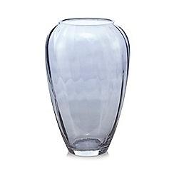 Debenhams - Grey optic glass vase
