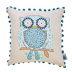Debenhams - Turquoise applique  owl cushion