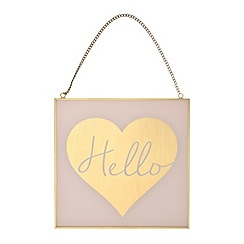 Debenhams - Glass and metal 'Cosmo Hello' sign