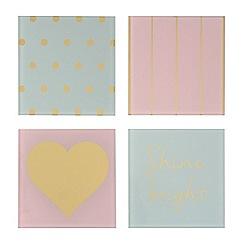 Debenhams - Set of four printed coasters