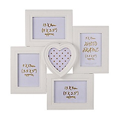 Debenhams - 'Cosmo' Heart aperture photo frame