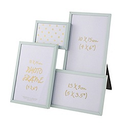 Debenhams - 'Cosmo' Pale green aperture photo frame