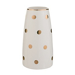 Debenhams - 'Cosmo' Ceramic polka dot vase