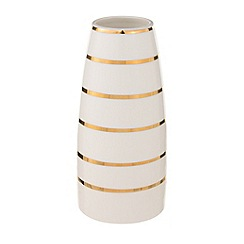 Home Collection - 'Cosmo' Cream striped ceramic vase