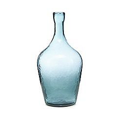 Debenhams - Dark turquoise bottle glass vase