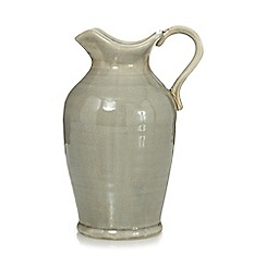 Debenhams - Pale green crackle effect jug vase