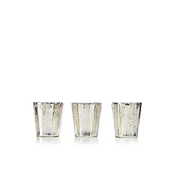 Debenhams - Set of three mercury glass tea light holders
