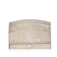 Debenhams - Cream washed wood letter box