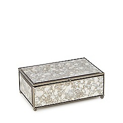 Debenhams - Silver marble-effect jewellery box