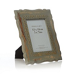 Debenhams - Green wood painted photo frame