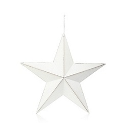 Home Collection - Large white wooden star ornament