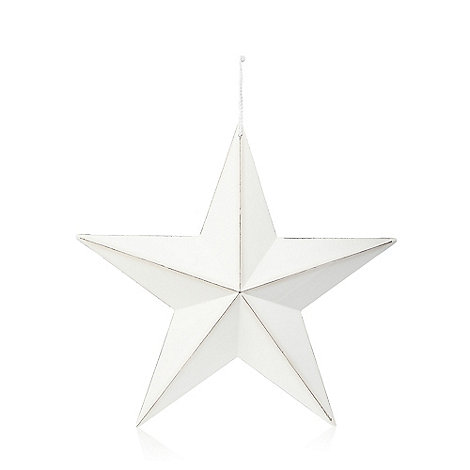 Home Collection - White large washed wood star