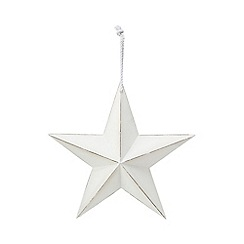 Home Collection - White wooden star ornament