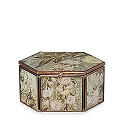 Debenhams - Small multi-coloured floral print hexagon box