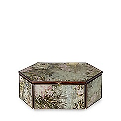 Debenhams - Large multi-coloured floral print hexagon box